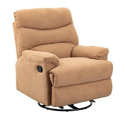 Homez, Manual recliner with swivel function, Towel fabric, Begie
