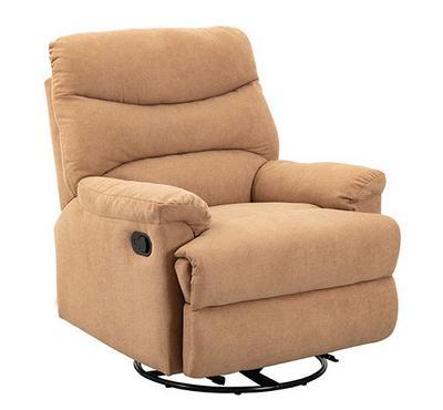هوميز، كرسي إسترخاء يدوي مع خاصية الدوران، قماش، بيج