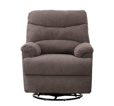 Homez, Manual recliner with swivel function, towel fabric, Dark Grey