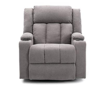 Homez, Rocking recliner with swivel function, towel fabric, Grey