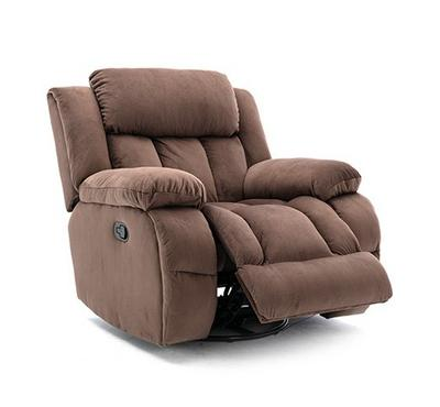 Homez, Rocking recliner with swivel function, bella fabric, Brown