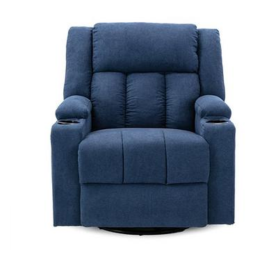 Homez, Rocking recliner with swivel function, towel fabric, Navy