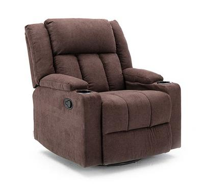Homez, Rocking recliner with swivel function, towel fabric, Brown