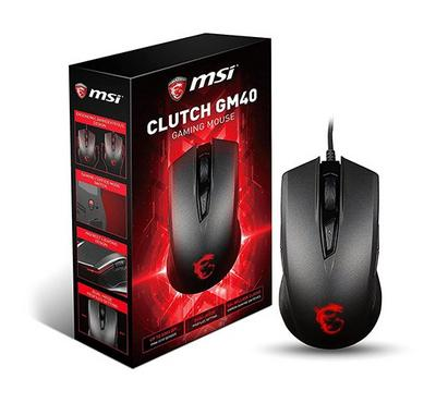 MSI, Clutch GM40 Gaming Mouse, Black