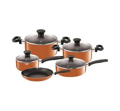 Tefal Prima 9 Pcs Non Stick Cookware Set, Brown
