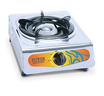 Power Single Burner Gas Stove, Auto Ignition, Stainless Steel