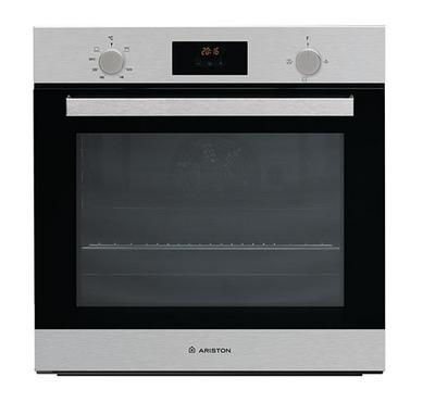 Ariston 62 Ltr Gas Oven, Gas Grill, Digital Timer, 2 Knobs Protruding, Inox.