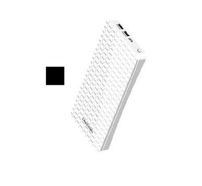 Linkcomn, Power Bank, 10000mAh, Dual USB Input Ports, White