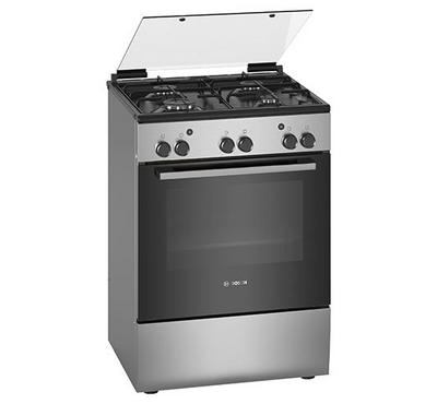 Bosch 60*60  Free Standing Gas Cooker, 4 Burners, Stainless Steel.