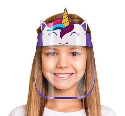 SmartLine, Face Shield protective Mask for kids, Unicorn
