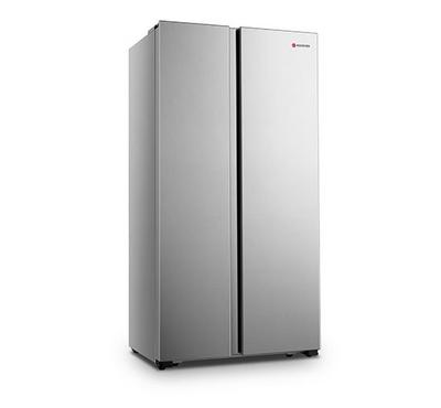 Hoover 508L Side By Side Free Standing Refrigerator, No Frost, Silver