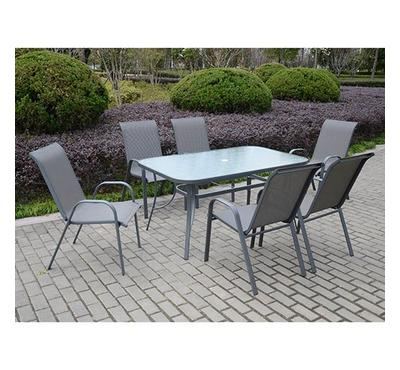 Homez, Kingston 7pcs dining set,  Table 1pc, Chair 6pcs
