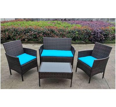 Homez, Plum 4pcs conversation patio set, Cyan