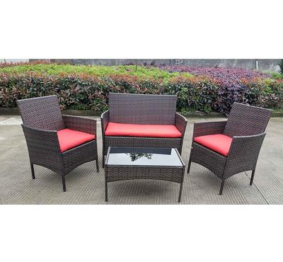 Homez, Plum 4pcs conversation patio set, Red