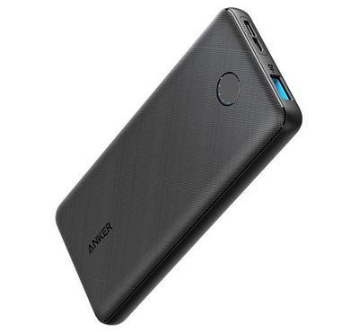 Anker, PowerCore Metro Slim, 10000mAh, Fast Charging, Fabric Black