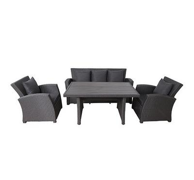 Orly, Wicker sofa set with dining table 4 pcs