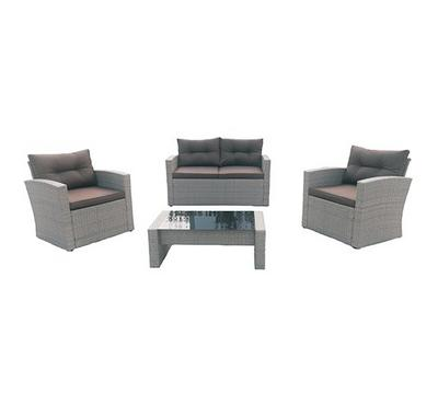 Newmann, Wicker patio set, 4 pcs, Gray