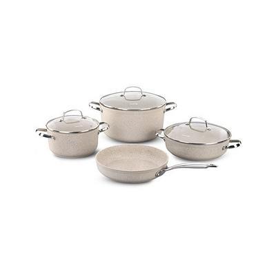 Korkmaz, GRANITA 7Pcs Granite Cookware Sets
