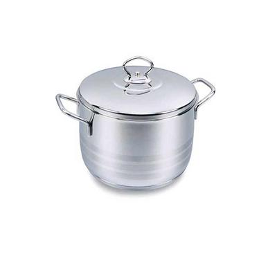 Korkmaz, ASTRA 22x12cm 4.5L, Stainless Steel Casserole Pot With Stainless Lid Silver