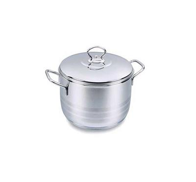 Korkmaz ASTRA, 20x12cm 3.7L Stainless Steel Casserole Pot With Stainless Lid Silver