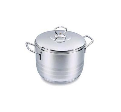 Korkmaz ASTRA 24x14cm 6.3L Stainless Steel Casserole Pot With Stainless Lid Silver