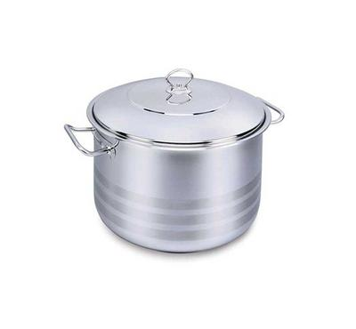 Korkmaz, MEGA 28x17cm 10.0L Stainless Steel Casserole Pot With Stainless Lid Silver