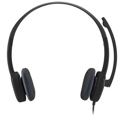 لوجيتك أتش151، سماعة رأس، ميكروفون دوار، أسود
