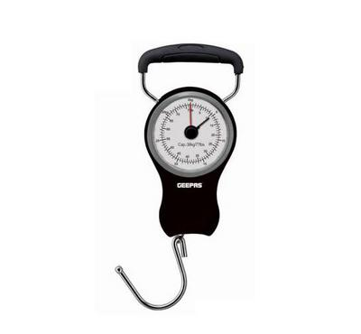 Geepas, Portable Luggage Scale, 38 Kg Capacity, Black&White