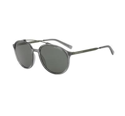 أرماني إكستشينج، نظارة شمسية رجالية دائرية، رمادي غامق شفاف
