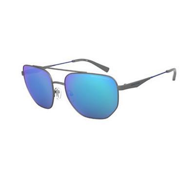 أرماني إكستشينج، نظارة شمسية رجالية مربعة الشكل، رمادي