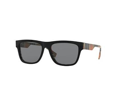 بربري، نظارة شمسية رجالية مربعة الشكل، إطار علوي أسود و ستايل فانتج