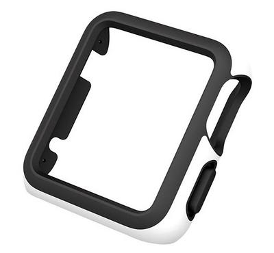 Speck CandyShell FIT ,38mm Apple Watch Cas,e White/Black