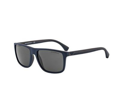 إمبوريو أرماني، نظارة شمسية رجالية مربعة الشكل، إطار علوي أسود و مطاط بني