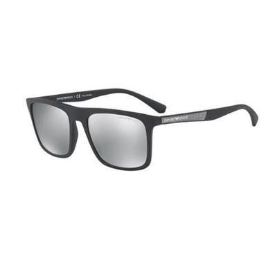 إمبوريو أرماني، نظارة شمسية رجالية مربعة الشكل، أسود