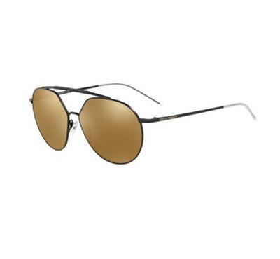 إمبوريو أرماني، نظارة شمسية رجالية  بإطار كامل، أسود