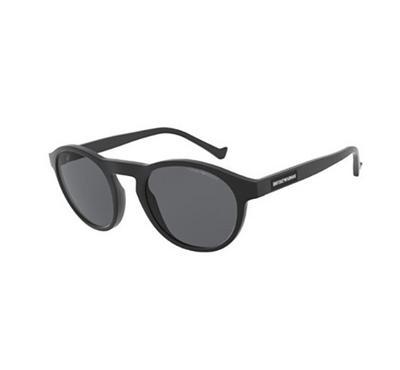 إمبوريو أرماني، نظارة شمسية رجالية  بشكل عدسة غير اعتيادي، أسود