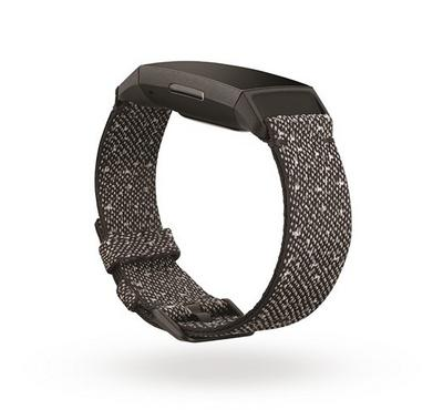 Fitbit Charge 4, Health & Fitness Tracker Special Edition, Granite Reflective Woven
