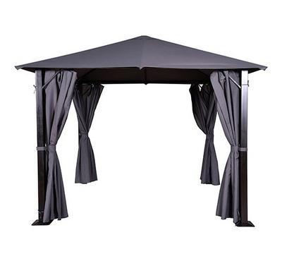 جازيبو، مظلة قماش صناعي (بوليستر)، أبعاد 3*3*2.57 متر، رمادي غامق