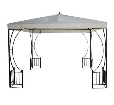 Metal Gazebo,  3X3X2.5M, Polyester With Pa Coating, White