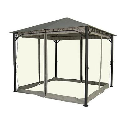 Gazebo, 3Mx3Mx2.75mm, Polyester With Pa Coating, Mesh Nettings