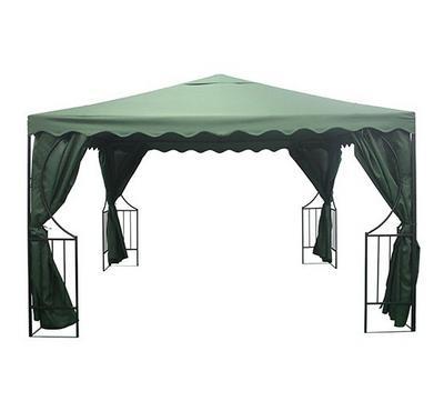 جازيبو، مظلة قماش صناعي، أبعاد 3.5*3.5*2.7 متر، أخضر