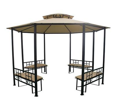 Gazebo, 3.8X2.65M, Poleyster With Pa Coating With Cushion