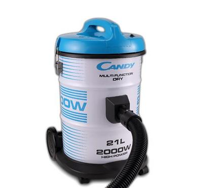 Candy Drum Vacuum Cleaner,21.0L, 2000W, Steel Body, Blue/White.