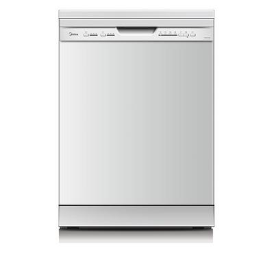 Midea Dish Washer , 12 Place Settings, 4 Programs,Silver