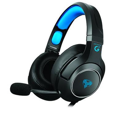 Game Master, Wired pro gaming headset with mic, Black/Blue