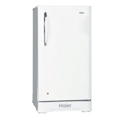 Haier Refrigerator 4.4CuFt. Single Door Direct Cool, White Glossy