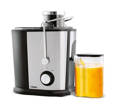 Clickon 1.2L Juice Extractor 600W Silver/Black.