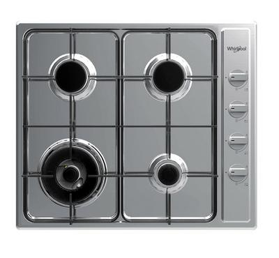 Whirlpool Built-in Gas Hob 60Cms, 4 GAS BURNERS, Staineless Steel