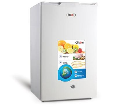 Clickon  Fridge Single Door,91.0L, Frost, Grey.
