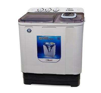Clickon 7.0KG Washing Machine Twin Tub Plastic White.